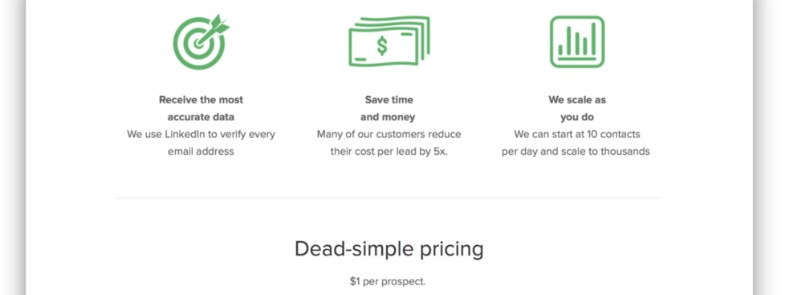 SimpleData pricing