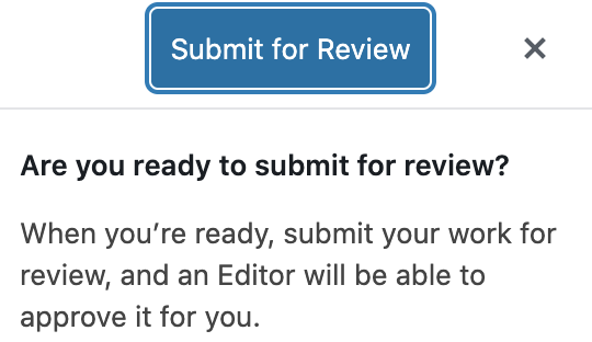 submit for review button